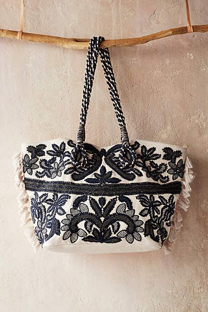 Embroidered Teola Tote