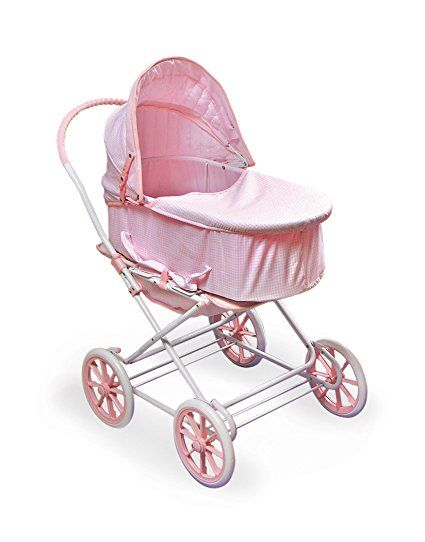 Amazon.com: Badger Basket English Style 3-in-1 Doll Pram, Carrier, and Stroller (fits American Girl dolls): Toys & Games
