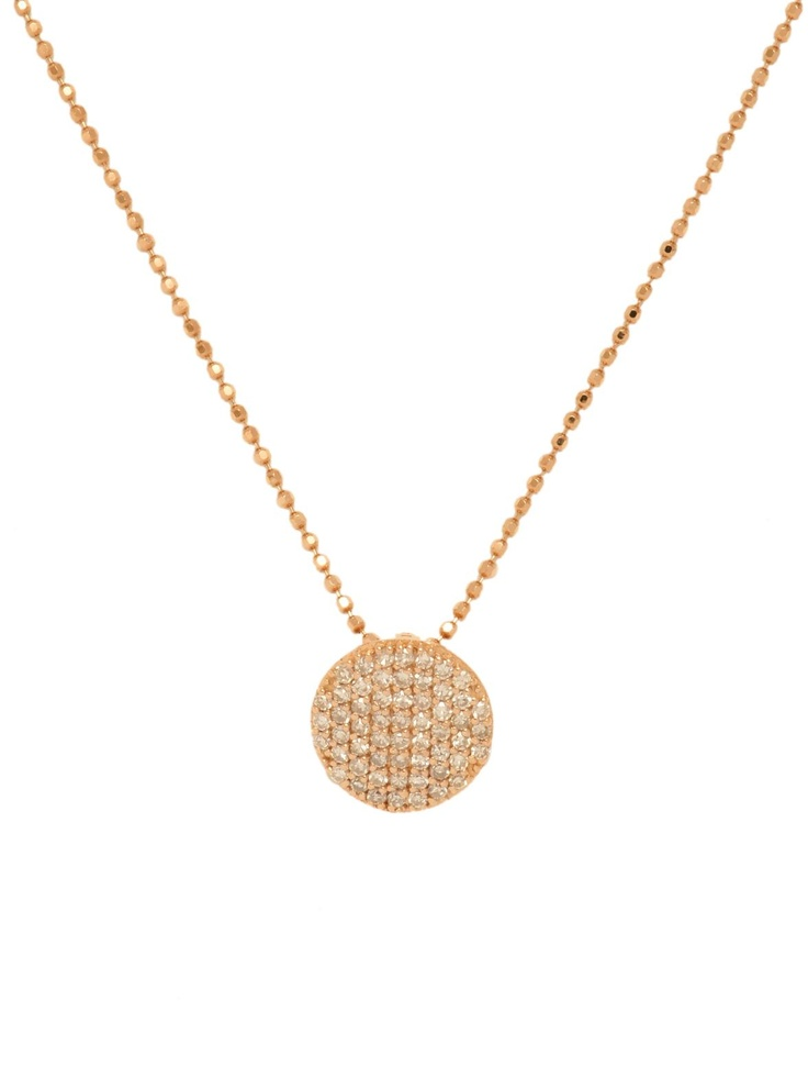 Phillips Frankel Rose Gold and Diamond Mini Disc Pendant Necklace at London Jewelers!