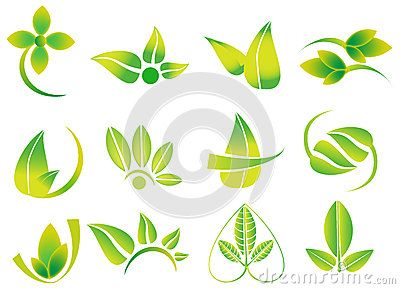 Vector Green Leaves, Flowesr, Ecology Icon Logotypes, Health, Environment, Nature Related Logos - Download From Over 56 Million High Quality Stock Photos, Images, Vectors. Sign up for FREE today. Image: 89239917