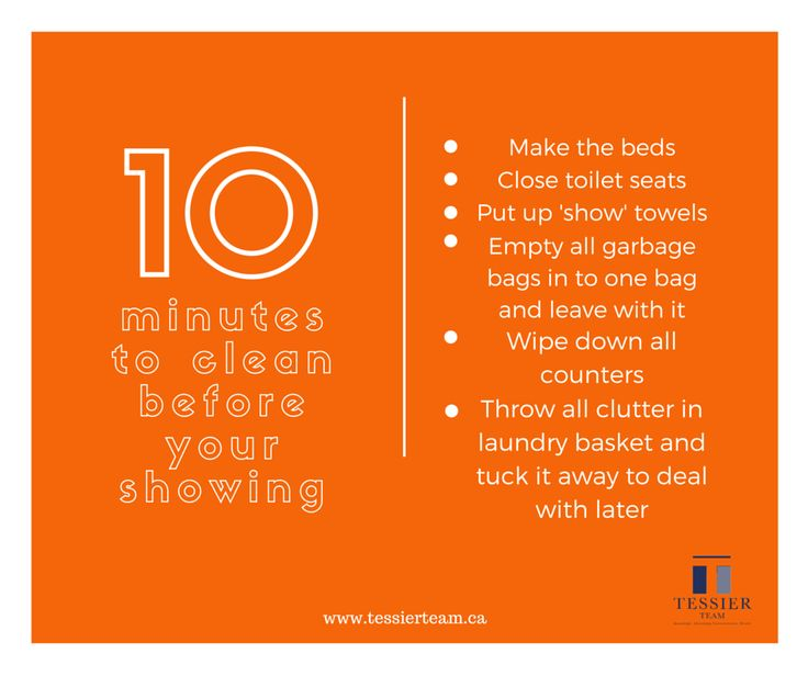 Only have 10 minutes to clean before your showing, here's what to focus on! #realestate #sellingyourhome #showings #tips