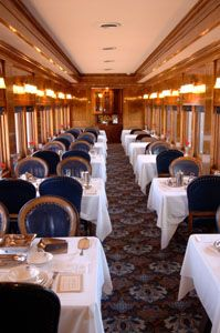 The Trans-Canada Limited - 1929 - Interior of the restored dining car Argyle