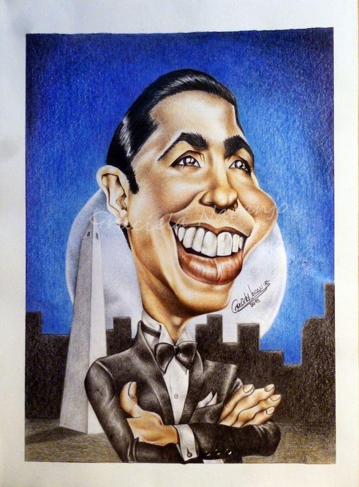 Carlos Gardel (lápices de color)