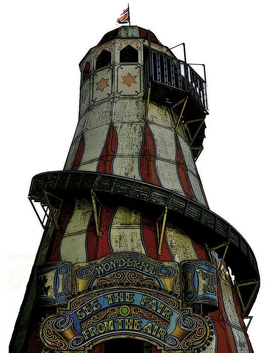 Perfect Victorian funfair rides - love them! http://toula-mavridou-messer.artistwebsites.com/featured/1-new-photographic-art-print-for-sale-colourful-and-traditional-victorian-helter-skelter-funfair-ride-toula-mavridou-messer.html