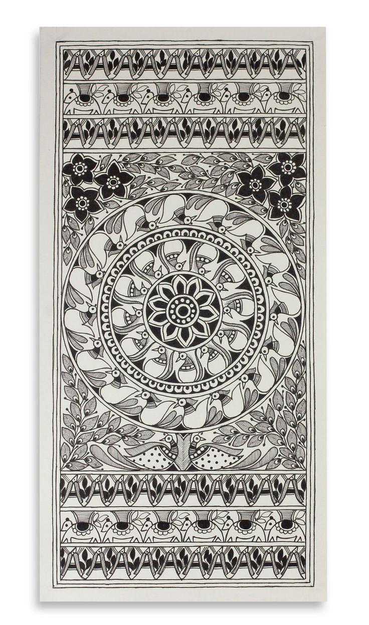 mithila art black and white - Google Search
