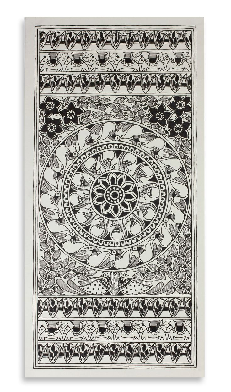 mithila art black and white - Google Search