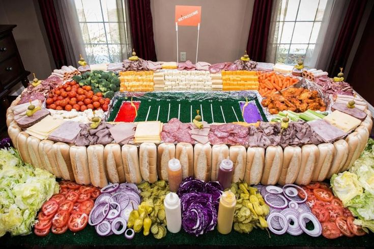 Ok this takes the cake for a food spread celebrating the occasion of a soccer match.