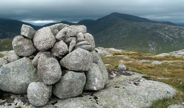 scotland cairns   Tour Scotland Photograph Mountain Cairn Isle Of Arran