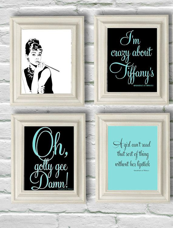 Digital Download Set 16 Breakfast At Tiffanys By Oliveruepress Small Bathroom