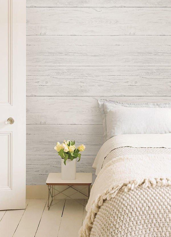 Shiplap Peel And Stick Wallpaper Window Film World Masterbedroomwallpaper Feature Wall Bedroom Bedroom Wall Bedroom Design