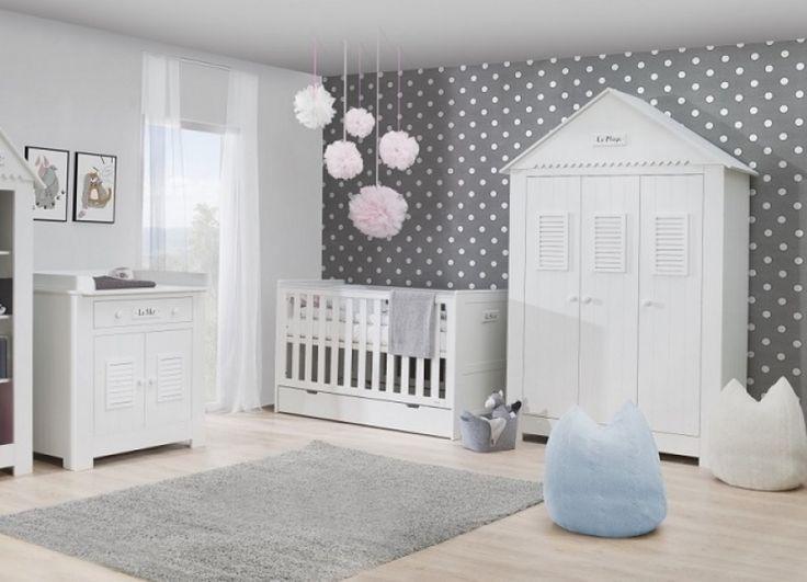 Babyzimmer Set C Saint-Tropez Weiß MDF