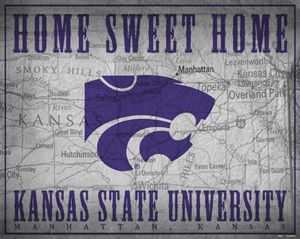 Kansas State University Wildcats HOME SWEET HOME Premium Poster Print -Available at www.sportsposterwarehouse.com