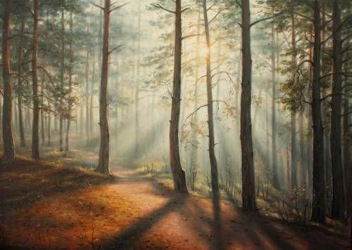 Картины (живопись) : Утренние лучи