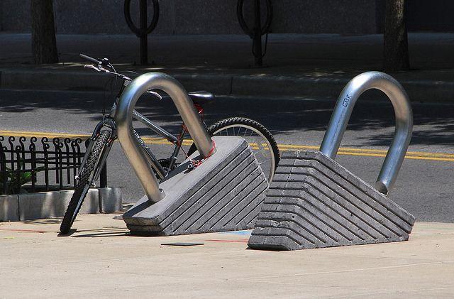 Bike lock rack