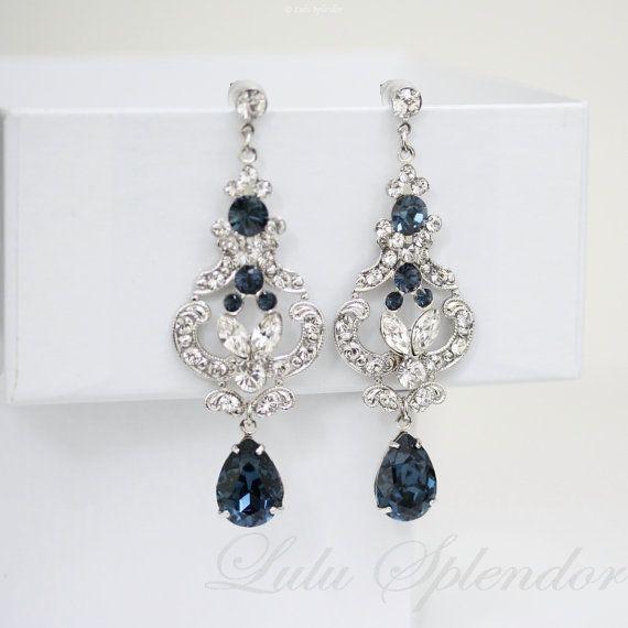 Diese einzigartige und wunderschöne Ohrringe bestehen aus Jugendstil, filigrane, die ich mit verstärkt Juwelen-Einstellungen und mit der hand