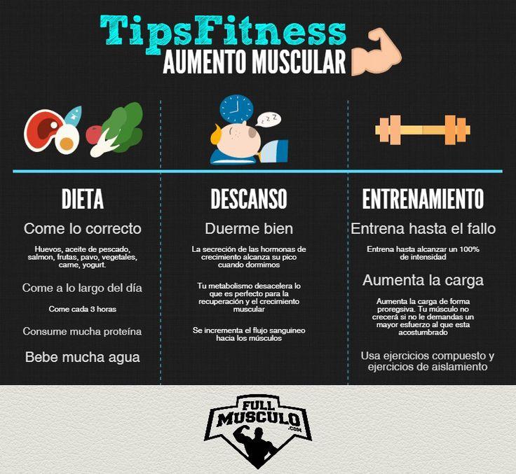 Si quieres aumentar masa muscular estos son los tips que debes tener en cuenta en tu #dieta y tu #entrenamiento