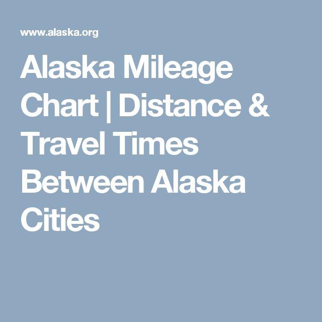 Alaska Mileage Chart | Distance & Travel Times Between Alaska Cities