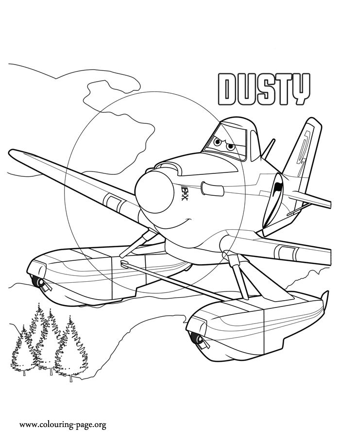 dusty is the main character in the upcoming movie planes 2 print and color this