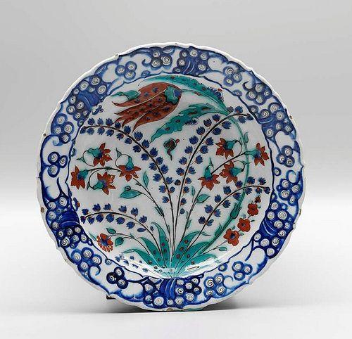 Tabak, seramik Osmanlı-İznik, 16. yüzyılın ikinci yarısı | by sadberkhanim