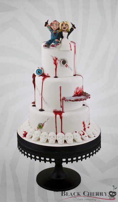 Bride of Chucky Wedding Cake - by littlecherry @ CakesDecor.com - cake decorating website