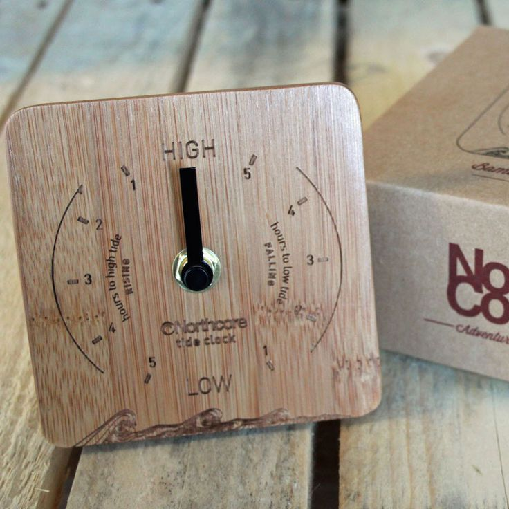 This Bamboo Tide Clock keeps you updated on tide times wherever your location