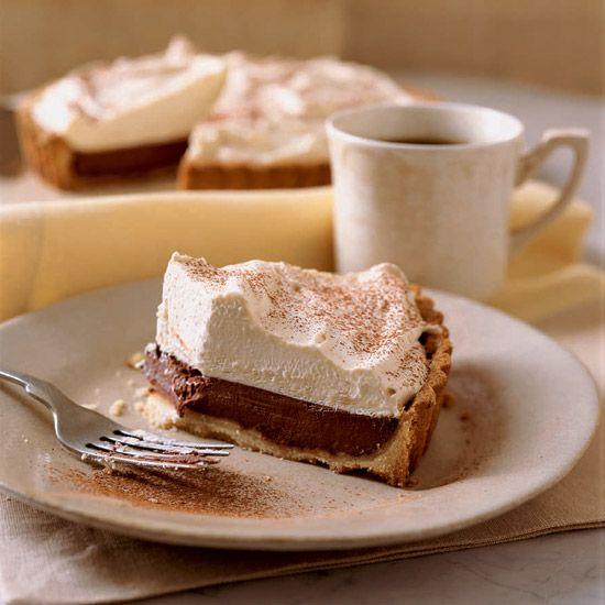 Bittersweet Chocolate Tart with Coffee Mascarpone Cream // More Dessert Recipes and Tips: http://www.foodandwine.com/cooking_guides/dessert-recipes #foodandwine