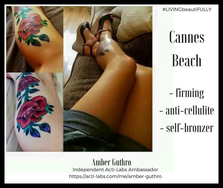 Firming, anti-cellulite self-tanner #skincare #tanning #summer #beauty #actiamber