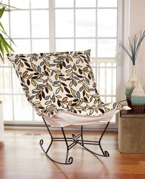 Scroll Rocker Chair in Pebble NoirScrolls Rocker, Rocker Chairs, Ideas, Rocks Chairs, Chicago Textiles, Scrolls Puff, Comforters Chairs, Puff Rocker, Elliott 600