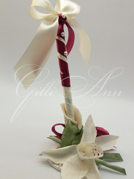 Свадебная ручка с подставкой Gilliann Orchidea PEN003, http://www.wedstyle.su/katalog/anniversaries/wedding-pen/svadebnaja-ruchka-s-podstavkoj-pearl, http://www.wedstyle.su/katalog/anniversaries/wedding-pen, wedding pen