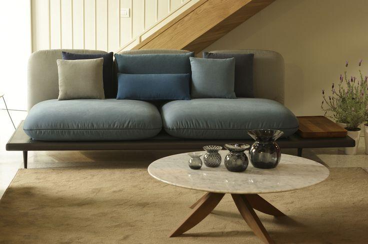 Sofa4manhattan Collection - blue 100% Cotton fabric