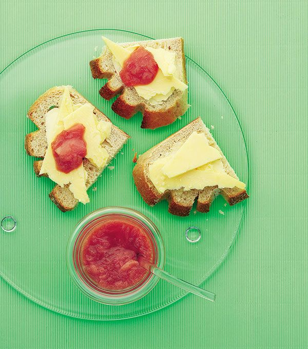 Rhubarb chutney is a great accompaniment to cheese - this recipe is really quick to make and keep on standby.