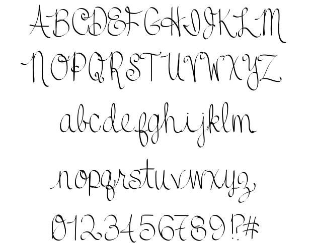 Best 25+ Cursive fonts for tattoos ideas on Pinterest ...