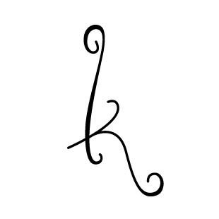 Fancy lowercase k