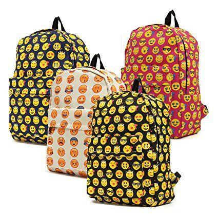 OUTERDO Funny Smiley Zaino Unisex Zaino Viaggio Borsa Backpack /Scuola Zaino/ Bambini Zaino/ School Bag-Innovativo Modello di Progettazione - Perfetto per Sport, Pic-nic, Eventi All'aperto: Amazon.it: Sport e tempo libero