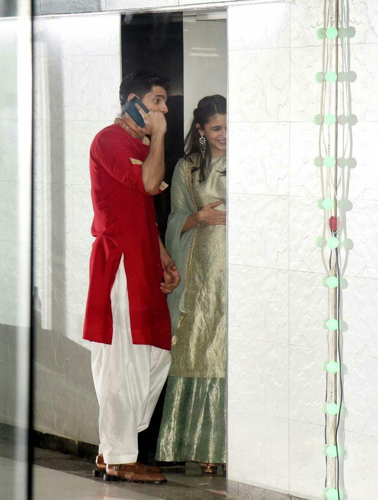 Alia & sid at Sanjay Kapoor's birthday bash