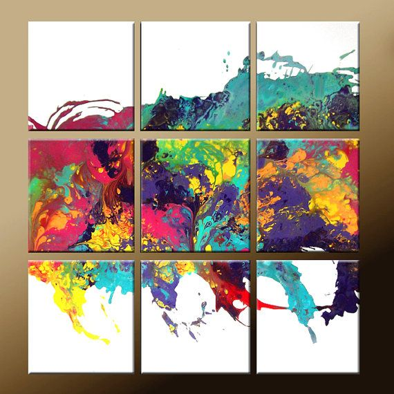 Big Canvas Art Modern Watercolor Abstract Ink Splash Big: 17+ Best Ideas About Splatter Paint Canvas On Pinterest