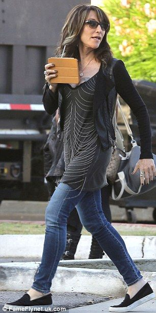Club matriarch: Katey Sagal also was spotted on the Sons Of Anarchy set