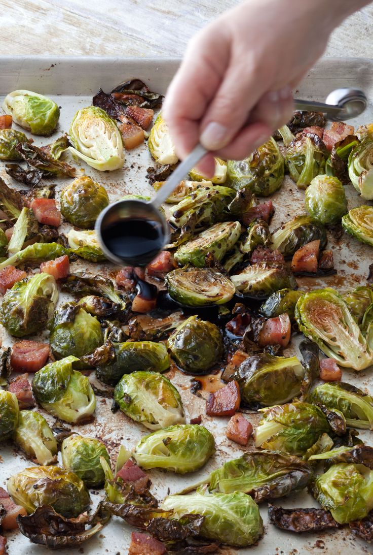 Balsamic Roasted Brussels Sprouts...and as always, if you don't have time to grow your own brussel sprouts, store bought will be just fine.