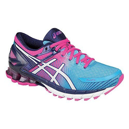 ASICS Women's Gel Kinsei 6 Running Shoe, AquariumWhiteHot