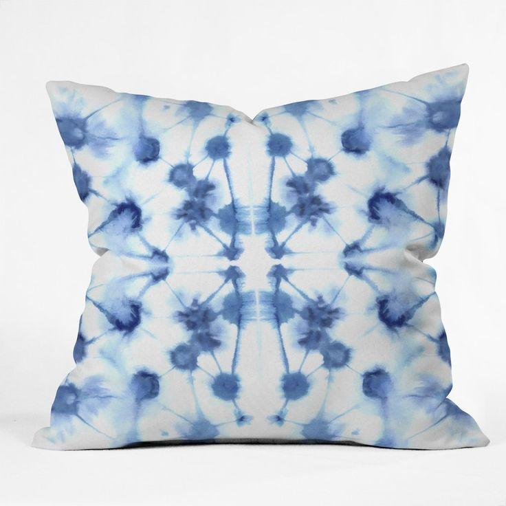 Jacqueline Maldonado Mirror Dye Blue Throw Pillow | DENY Designs Home Accessories
