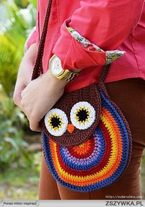 Zobacz zdjęcie torba sówka na szydełku :)