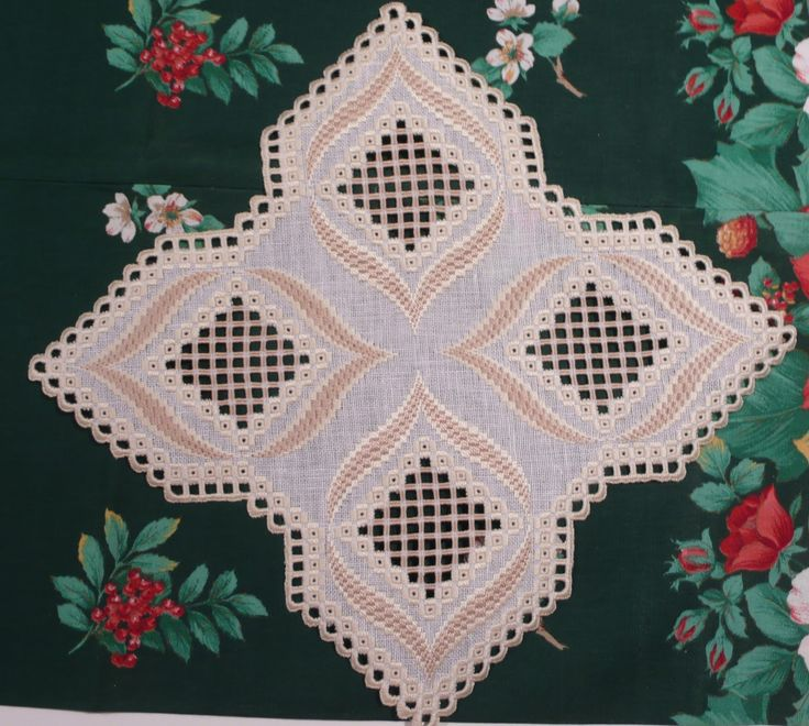 "The pattern is from an ""Anna Special Hardanger"" magazine"