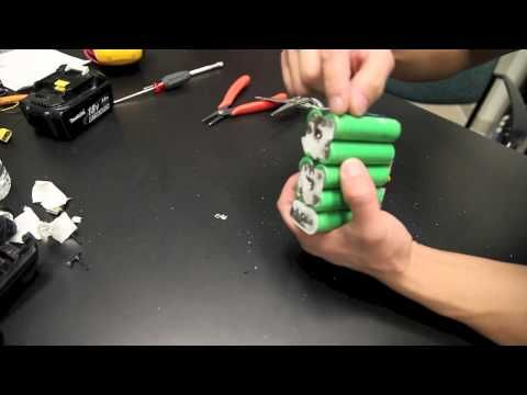 How to dissassemble Makita BL1830 Battery pack - YouTube