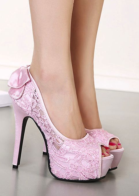 Lace High Heel Shoes