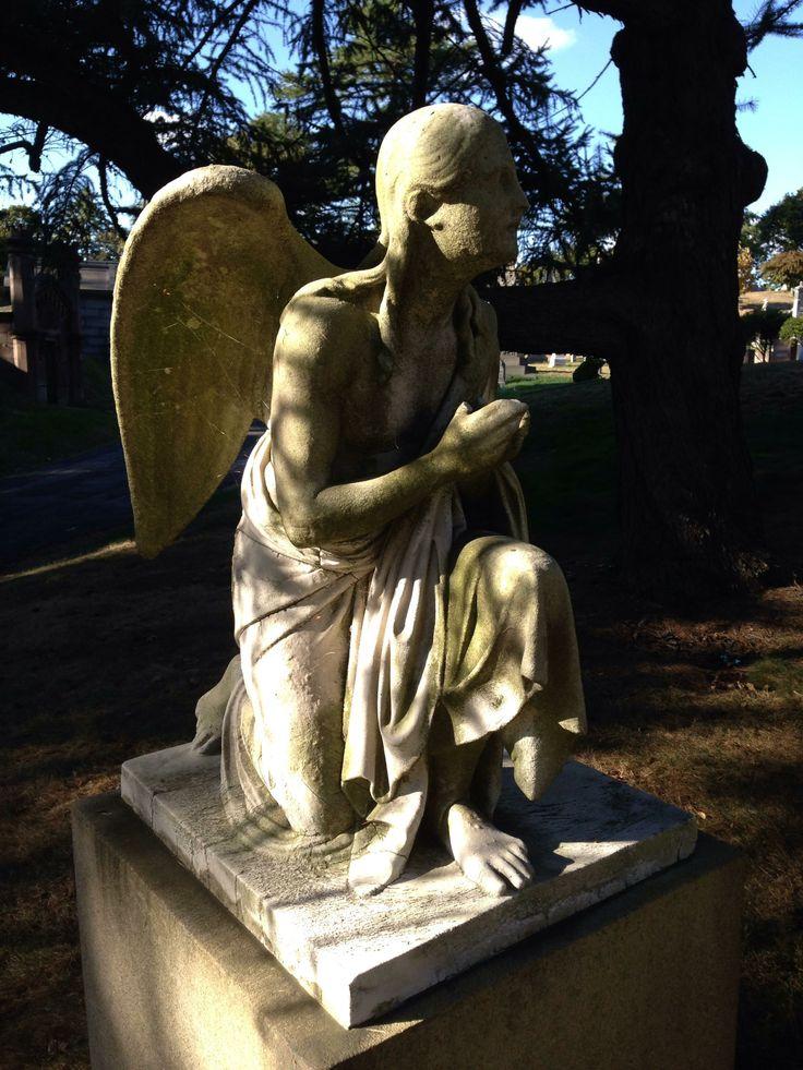 A prayerful angel.