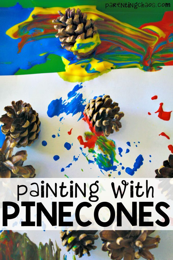 FINALLY something to do with all the pine cones my kids collect! Cannot wait to try Painting with Pinecones with them!