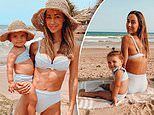 Big Brother beauty Krystal Hipwell wears matching swimwear with her one-year-old daughter