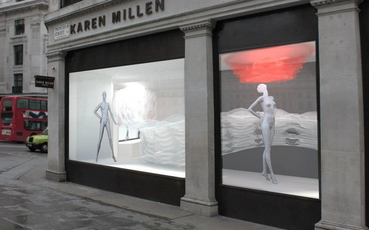 @Karen Millen window display as part of the RIBA London, Regent Street Windows project 2013.