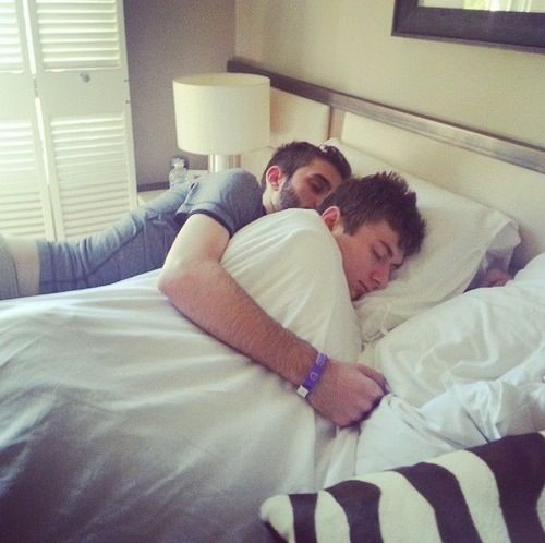 BajanCanadian, aka Mitch, and woofless, aka Rob, cuddling ...Bajancanadian In Real Life