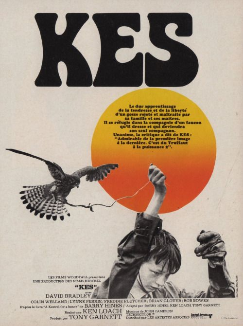 """Ken Loach's """"KES"""" French Film Poster MM"""